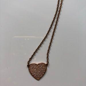 Michael Kors rose gold heart ❤️ necklace